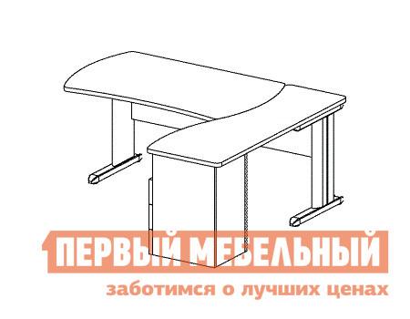 Компьютерный стол Дэфо B178/1 стол офисный дэфо берлин b101 правый береза серый