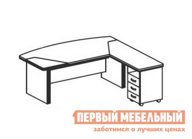 Компьютерный стол Дэфо BE104 стол офисный дэфо берлин b101 правый береза серый