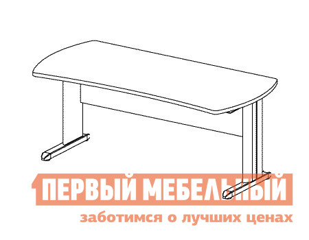 Компьютерный стол Дэфо B161/1 стол офисный дэфо берлин b101 правый береза серый