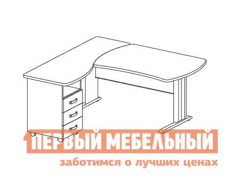 Компьютерный стол Дэфо B199/1 стол офисный дэфо берлин b101 правый береза серый