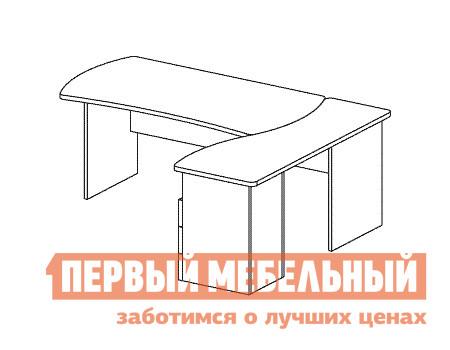 Компьютерный стол Дэфо B183 стол офисный дэфо берлин b101 правый береза серый