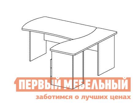 Компьютерный стол Дэфо B177 стол офисный дэфо берлин b101 правый береза серый