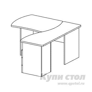 Компьютерный стол Дэфо B171 стол офисный дэфо берлин b101 правый береза серый