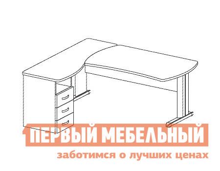 Компьютерный стол Дэфо B187/1 стол офисный дэфо берлин b101 правый береза серый