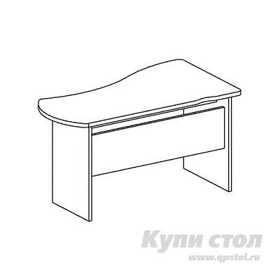 Компьютерный стол Дэфо B116 стол офисный дэфо берлин b101 правый береза серый