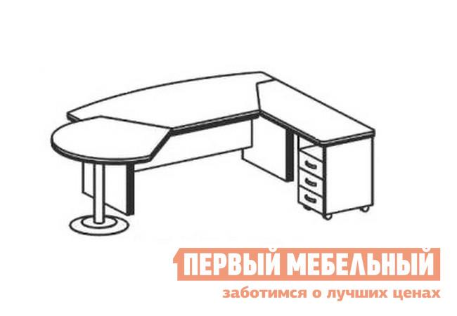 Компьютерный стол Дэфо BE110 стол офисный дэфо берлин b101 правый береза серый
