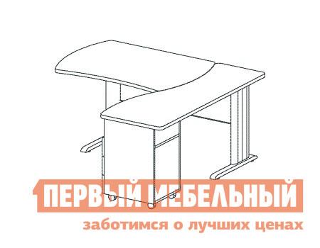 Компьютерный стол Дэфо B196/1 стол офисный дэфо берлин b101 правый береза серый
