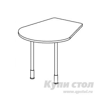 Стол-приставка Дэфо B345 стол офисный дэфо берлин b101 правый береза серый