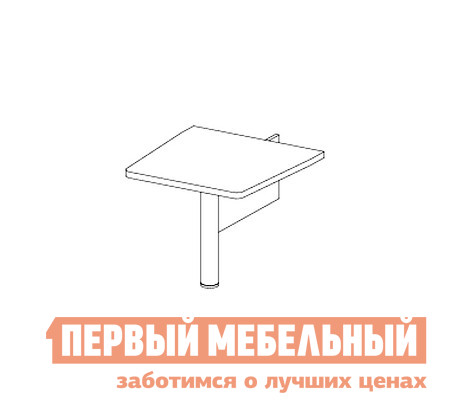 Стол-приставка Дэфо 48B003 стол офисный дэфо берлин b101 правый береза серый