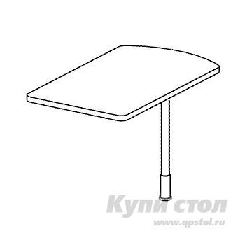 Стол-приставка Дэфо B343 стол офисный дэфо берлин b101 правый береза серый