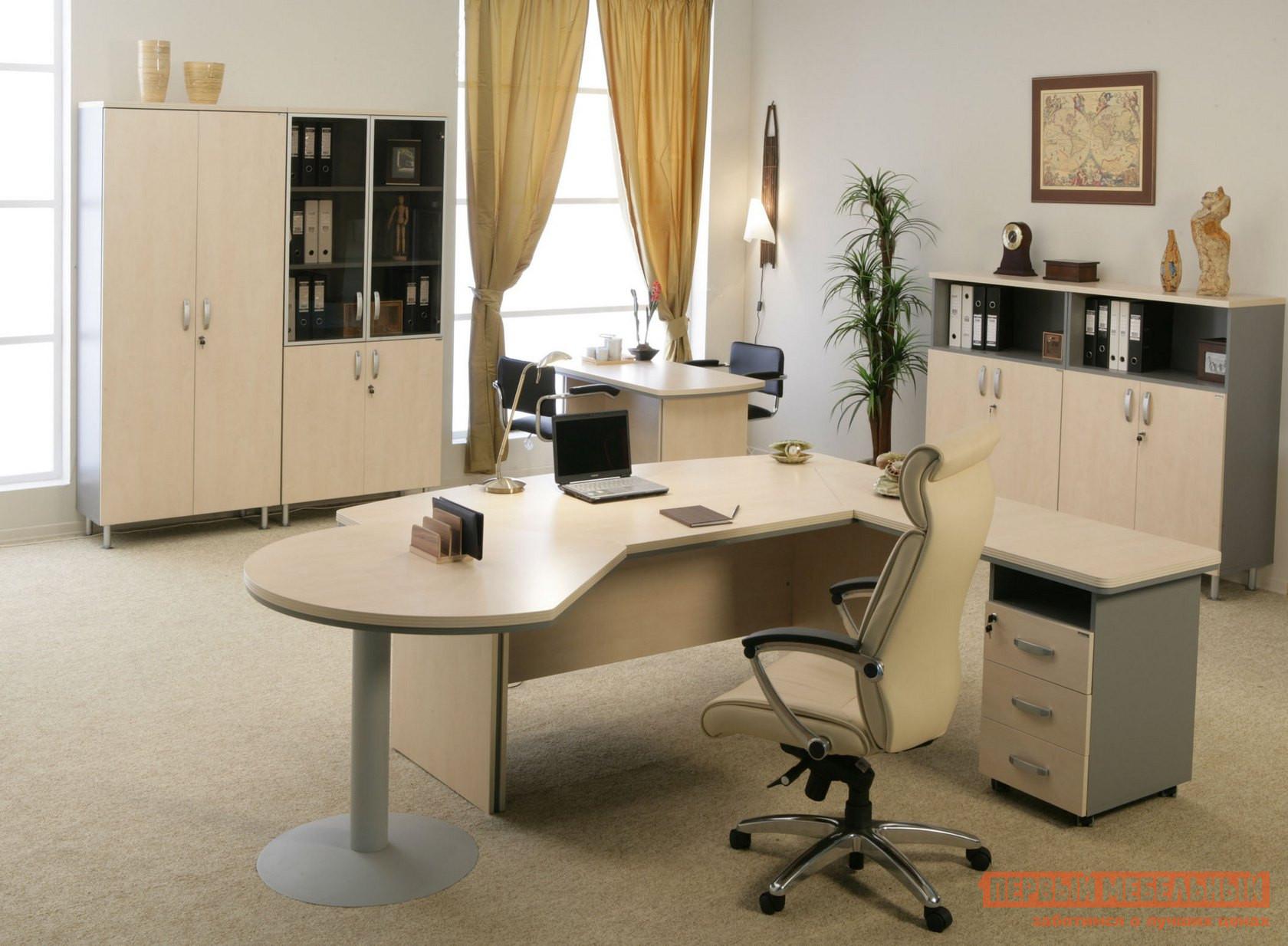 Комплект офисной мебели Дэфо Берлин Директор К1 стол офисный дэфо берлин b101 правый береза серый