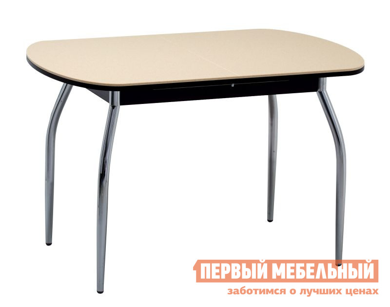 Кухонный стол с каменной столешницей Кубика Братислава-1 (ноги хром)