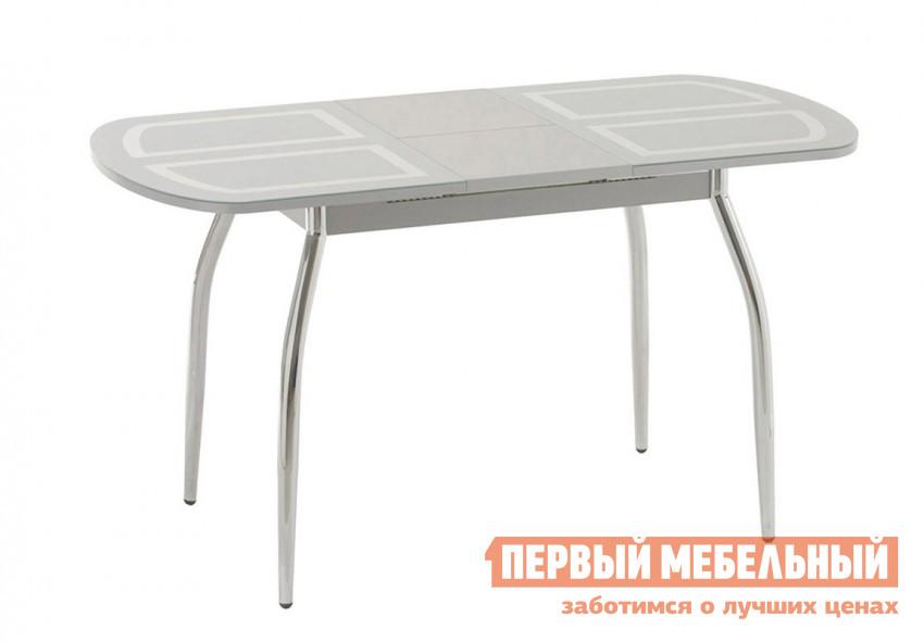 Кухонный стол Кубика Портофино-мини Рис-1 (ноги хром) обеденная группа из стекла для кухни кубика ницца 1 рис 1 ноги хром 4шт капри 2