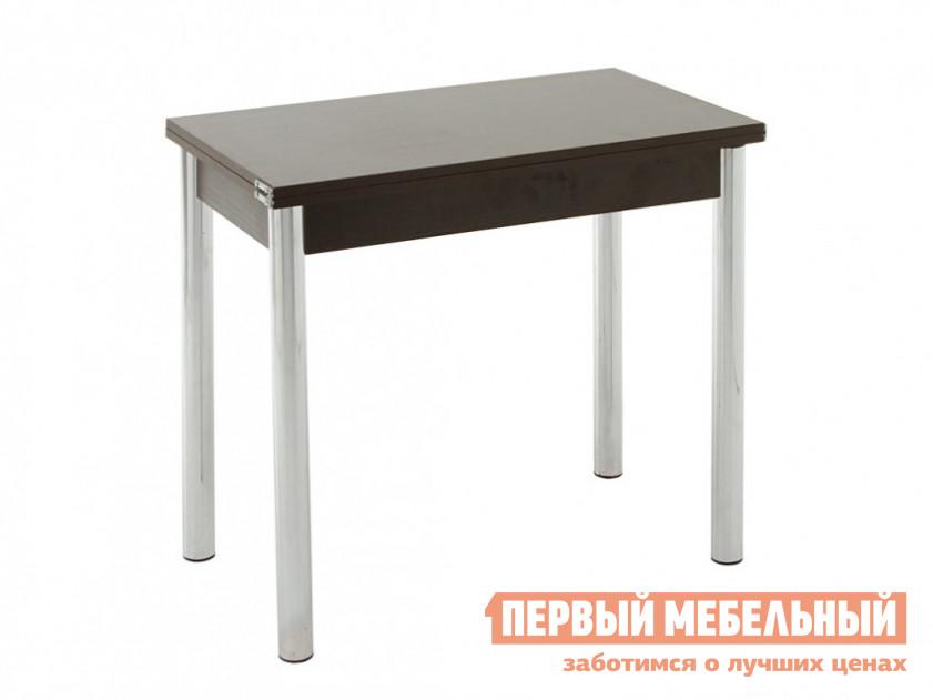 Узкий стол для кухни с металлическими ножками Кубика Кубика (ноги хром-лак) кухонный стол кубика портофино 2