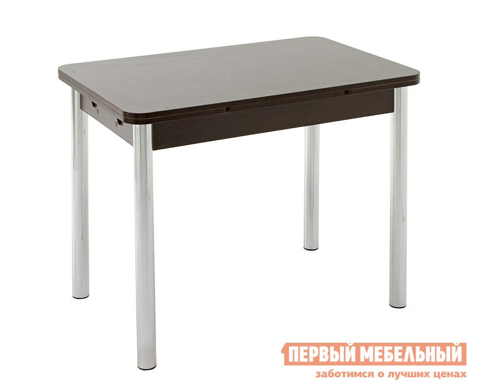 Кухонный стол Кубика Милан-3 (ноги хром) Венге
