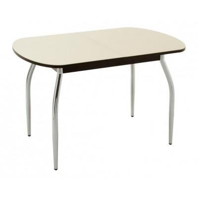 Кухонный стол Кубика Портофино-2 Стекло песочное / Венге