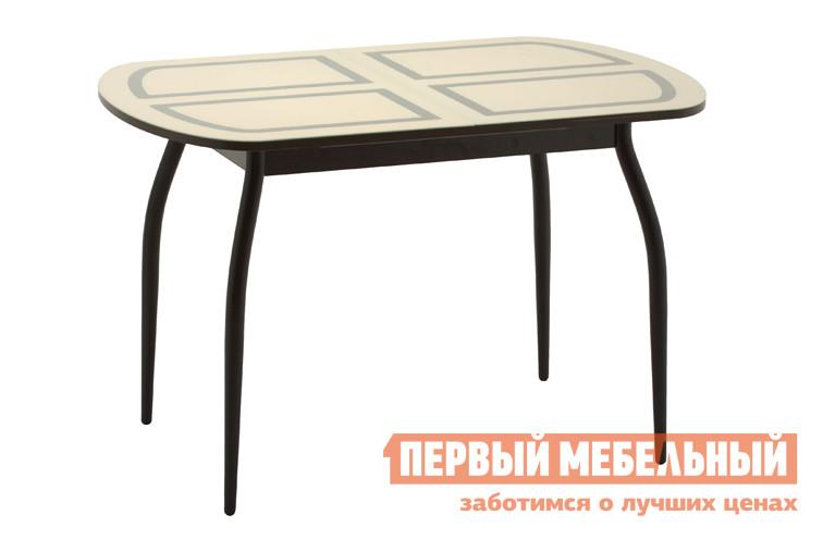 Кухонный стол Кубика Портофино-2 Рис-1 (ноги хром) обеденная группа из стекла для кухни кубика ницца 1 рис 1 ноги хром 4шт капри 2