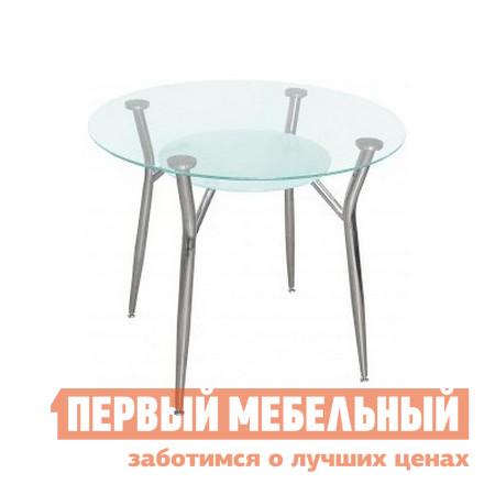Маленький круглый стеклянный стол на кухню Кубика Пекин-К