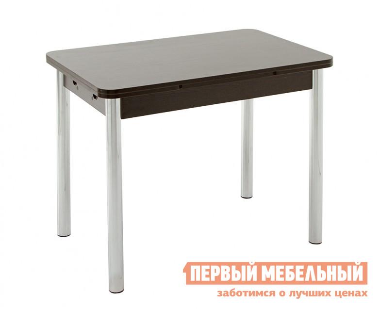 Кухонный стол Кубика Милан-2 (ноги хром-лак №4) Венге