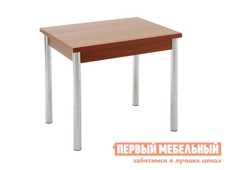 Кухонный стол Кубика Питер (ноги хром-лак №4) Вишня