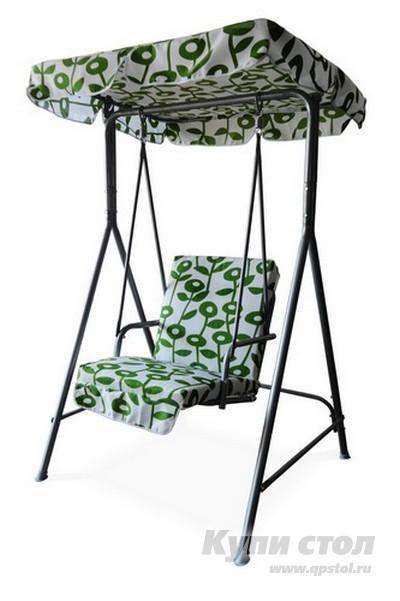 Качели Афина-мебель QF-63031 Белый с зеленымСадовые качели<br>Габаритные размеры ВхШхГ 1700x1000x1000 мм. Качели Фиона — удачный вариант для размещения на садовом участке.  Модель не займет много места, поэтому для нее нужен совсем небольшой свободный участок.  Качели станут любимым местом проведения времени как для детей, так и для взрослых.  В жаркий летний день приятно лениво раскачиваться, наслаждаться прохладным ветерком. Крыша выполнена из тканевого покрытия — полиэстера, она защитит от чрезмерно яркого солнца и спрячет от внезапного летнего дождя.  Каркас полностью выполнен из стали, которая обработана защитным антикоррозийным покрытием, что позволяет без ущерба оставлять качели на улице.  Диаметр стальной трубы каркаса составляет 38, 25 и 19 мм.  Сиденье укрыто матрасиком из приятного на ощупь холлофайбера.  Качели Фиона рассчитаны на нагрузку до 200 кг.<br><br>Цвет: Белый<br>Цвет: Зеленый<br>Высота мм: 1700<br>Ширина мм: 1000<br>Глубина мм: 1000<br>Кол-во упаковок: 1<br>Форма поставки: В разобранном виде<br>Срок гарантии: 3 месяца<br>Материал: Металл<br>Материал: Ткань<br>Размер: Одноместные
