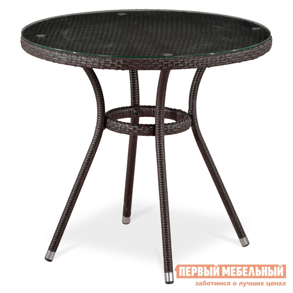 Круглый стол из ротанга Афина-мебель T283АNТ-W51 полка навесная сканд мебель шервуд пш 03