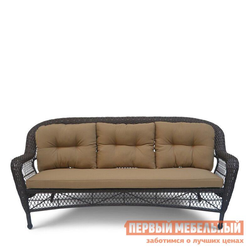 Плетеный диван 3-х местный Афина-мебель LV216-1 Brown/Beige