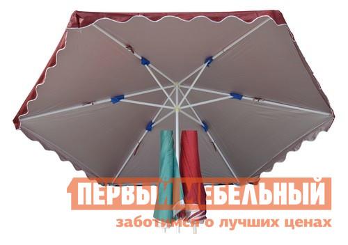 Садовый зонт Афина-мебель UM-340/6D Бордовый от Купистол