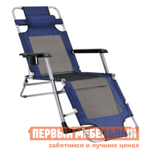 Шезлонг Афина-мебель Стелла-1 CHO-103/6 Темно-синий Афина-мебель Габаритные размеры ВхШхГ 790x650x1780 мм. Кресло для походов максимальной комфортабельности покорит любого ценителя отдыха на природе.  <br />Кресло-шезлонг CHO-103 оборудовано всеми необходимыми деталями.  <br />В пластиковых подлокотниках имеется удобный глубокий подстаканник, сверху есть мягкий подголовник, который снимет напряжение в шее, а спинка и сиденье шириной 470 мм, изготовленные из полиэстрера Oxford 600D со специальным покрытием, долговечны и водонепроницаемы.  <br />Каркас изготовлен из прочной стальной трубы диаметром 22 мм, что позволяет креслу выдерживать нагрузку до 150 кг.  <br />Кресло CHO-103 имеет возможность регулировки положения отдыхающего: сидя, полусидя или лежа. <br>
