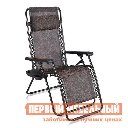 Кресло для пикника Афина-мебель CHO-В Коричневый с рисункомКресла для пикника<br>Габаритные размеры ВхШхГ 1130x690x1770 мм. Если во время отдыха на природе, в походе или просто в расслабленной неге на даче под солнышком вы предпочитаете, чтобы вам было максимально комфортно, то кресло-лежак CHO-В — это то, что вам нужно.  Модель практична и универсальна: она может быть как креслом, так и лежаком, в котором можно подремать после обеда на свежем воздухе.  В кресле предусмотрен мягкий подголовник, удобные подлокотники, а также два пластиковых подстаканника для освежающего напитка и стаканчика только что собранной малины или смородины. Регулировка лежака очень проста: чтобы изменить положение изножья и спинки, надо упереться ногами в нижнюю планку и нажать на две кнопки, которые предусмотрены под подлокотниками.  Сама регулировка предпочтительного угла наклона осуществляется ногами. Для изготовления каркаса кресла применяется стальная труба диаметром 22 мм.  Выбор такого материала обеспечивает надежность конструкции, лежак выдерживает до 150 кг.  Полотно спинки и сиденья выполняется из прочной ткани — текстилена, которая соединяется с каркасом крупным стильным стежком. Кресло легко и быстро складывается, весит всего 5 кг и всегда пригодится в любой поездке.<br><br>Цвет: Коричневый<br>Высота мм: 1130<br>Ширина мм: 690<br>Глубина мм: 1770<br>Кол-во упаковок: 2<br>Форма поставки: В собранном виде<br>Срок гарантии: 3 месяца<br>Тип: Складные<br>Тип: Трансформер<br>Тип: Кресла-шезлонги<br>Назначение: Для дачи<br>Материал: Металл<br>Материал: Ткань<br>Размер: Одноместные<br>С подголовником: Да