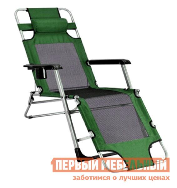 Шезлонг Афина-мебель Стелла-1 CHO-103/6 Зеленый Афина-мебель Габаритные размеры ВхШхГ 790x650x1780 мм. Кресло для походов максимальной комфортабельности покорит любого ценителя отдыха на природе.  <br />Кресло-шезлонг CHO-103 оборудовано всеми необходимыми деталями.  <br />В пластиковых подлокотниках имеется удобный глубокий подстаканник, сверху есть мягкий подголовник, который снимет напряжение в шее, а спинка и сиденье шириной 470 мм, изготовленные из полиэстрера Oxford 600D со специальным покрытием, долговечны и водонепроницаемы.  <br />Каркас изготовлен из прочной стальной трубы диаметром 22 мм, что позволяет креслу выдерживать нагрузку до 150 кг.  <br />Кресло CHO-103 имеет возможность регулировки положения отдыхающего: сидя, полусидя или лежа. <br>