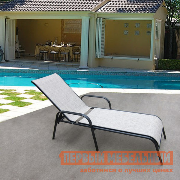 Шезлонг металлический Афина-мебель MC-2051A / MC-2051B комплект мебели из ротанга афина мебель t282bnt w53 y90c w51 2pcs