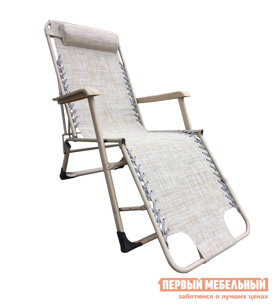 Шезлонг с подголовником Афина-мебель CHO-103C Beige кресло шезлонг афина мебель cho 103а cho 103в cho 103d