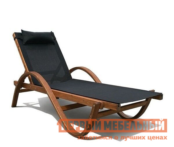 Шезлонг Афина-мебель AFM-511 Black Афина-мебель Габаритные размеры ВхШхГ 820x770x2010 мм. В моде все с приставкой эко-, такой шезлонг смело можно назвать эко-лежак.  Каркас шезлонга Мальта AFM-511 выполнен из настоящей сибирской лиственницы.  Текстура дерева проглядывает через легкую обработку и сочетается с выбранными обивками сиденья неброских цветов. </br> Ткань на лежаке — текстилен 4х4, этот материал прекрасно подходит, так как он дышит, быстро сохнет и не впитывает влагу.  На нем комфортно лежать как на солнце, так и сразу после купания. <br>Шезлонг рассчитан на максимальную нагрузку до 150 кг. <br><br>В ассортименте нашего магазина вы найдете и другие модели лежаков из натурального дерева. <br>