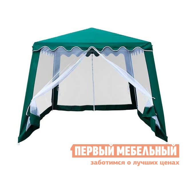 Шатер для дачи Афина-мебель AFM-1036 Зеленый полиэстерШатры для дачи<br>Габаритные размеры ВхШхГ 2500x3000x3000 мм. Если вы хотите качественно обустроить зону отдыха у себя на участке, то обязательно присмотритесь к шатру для дачи Монри AFM-1036 Афина-мебель.  Он отличается своей легкостью, вес с упаковкой составляет всего 8 кг.  Размер крыши здесь большой (2400х2400 мм). Площадь внутри тоже немаленькая.  Это значит, что под ним могут разместиться стулья, столик.  Получится летняя кухня на открытом воздухе.  Кстати, держится все на трубках из стали.  Тент выполнен из полиэстровой ткани плотностью 160 г/м3, а стенки выполнены из москитной сетки и застегиваются на молнию.  Под ней можно без проблем спрятаться от палящего солнца или же сильного дождя.  Если вы дачник или просто часто выезжаете за город, то обязательно купите данный шатер.  Его главное преимущество заключается в низкой стоимости и высоком качестве.<br><br>Цвет: Зеленый<br>Высота мм: 2500<br>Ширина мм: 3000<br>Глубина мм: 3000<br>Кол-во упаковок: 1<br>Форма поставки: В разобранном виде<br>Срок гарантии: 3 месяца<br>Тип: Разборные<br>Материал: Металл<br>Форма: Квадратные<br>Размер: 3х3<br>С москитной сеткой: Да