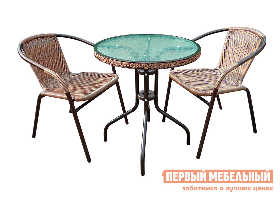 Комплект садовой мебели Афина-мебель TLH-037/087 Капучино от Купистол