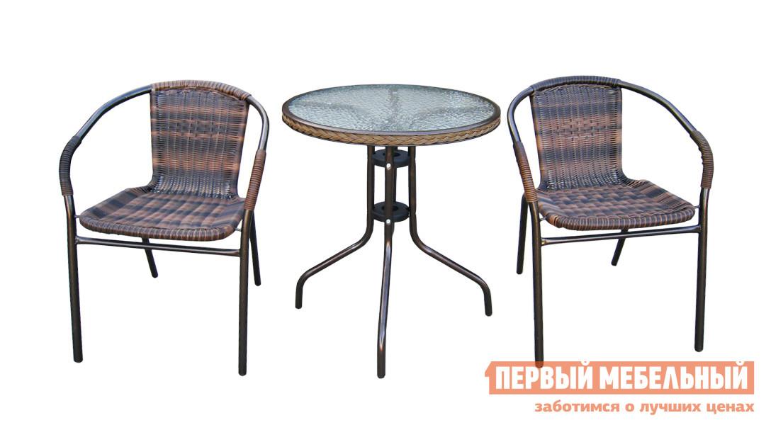 Комплект садовой мебели Афина-мебель TLH-037/087 Орех от Купистол