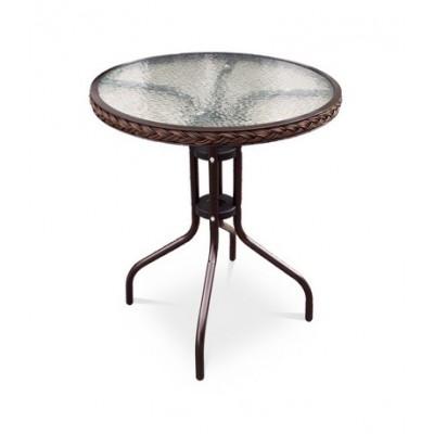Плетеный стол Афина-мебель Ассоль-1 TLH-087-D60 Brown