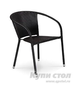 Садовое кресло Афина-мебель Y-137C Темно-коричневый ротанг