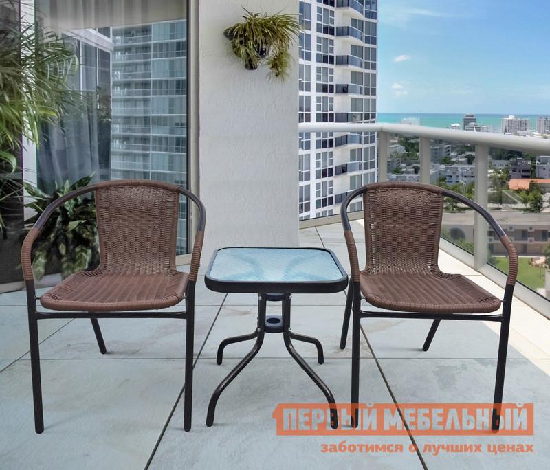 Комплект плетеной мебели Афина-мебель TLH-037A/055S-45х45 2Pcs комплект плетеной мебели афина мебель afm 2017g