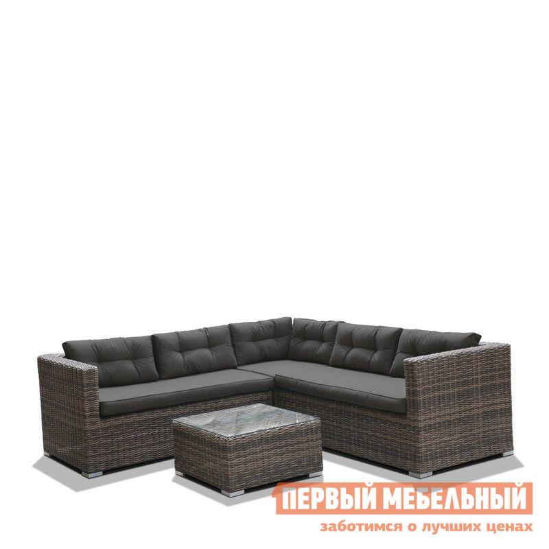 Комплект плетеной мебели Афина-мебель AFM303A Brown/Olive / AFM303B Brown/Grey