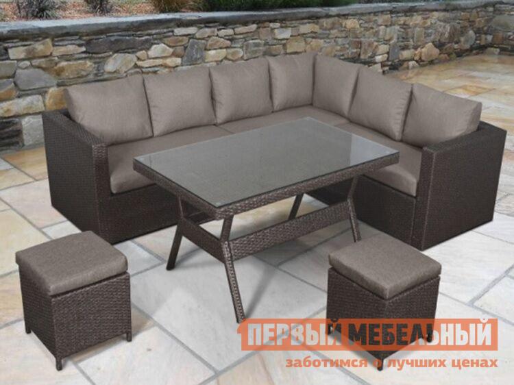 Комплект плетеной мебели Афина-мебель AFM-X04 Brown