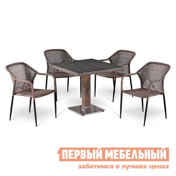 Комплект плетеной мебели Афина-мебель Т503SG/Y35G-W1289 комплект плетеной мебели афина мебель lv130 brown beige