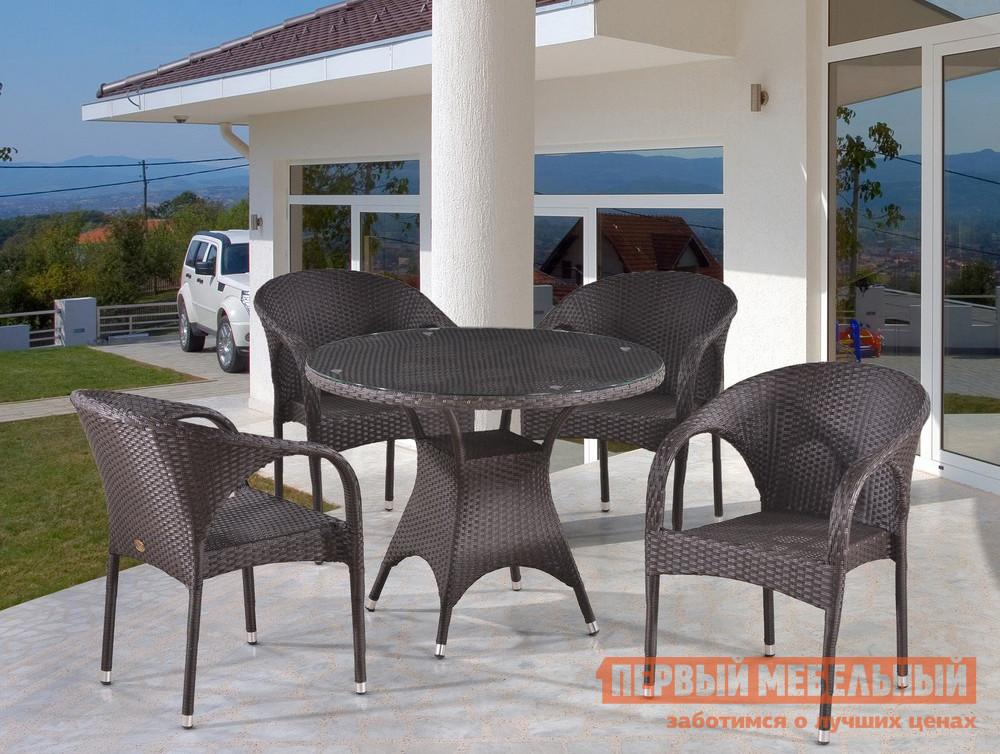 Комплект плетеной мебели Афина-мебель T220CBT/Y290B-W52 4Pcs комплект плетеной мебели афина мебель afm 2017g