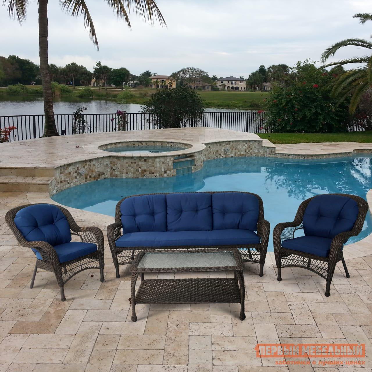 Комплект плетеной мебели Афина-мебель LV216 Brown/Beige Brown/Blue комплект плетеной мебели афина мебель afm 2017g