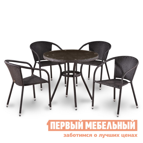 Комплект плетеной мебели Афина-мебель T283ANT/Y137С-W51-4PCS 4pcs hgw15ca 100