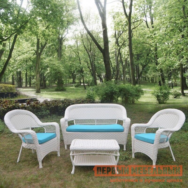 Комплект плетеной мебели Афина-мебель LV130 White/Blue люстра linvel lv 9070 3 white