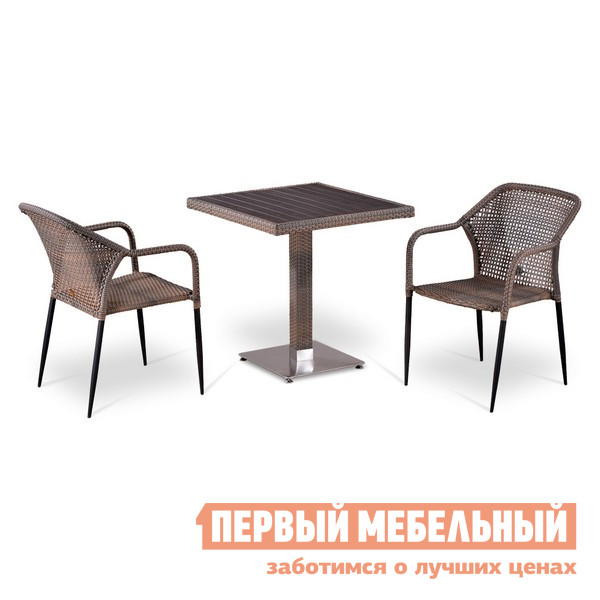 Комплект плетеной мебели Афина-мебель Т502DG/Y35G-W1289 комплект плетеной мебели афина мебель lv130 brown beige