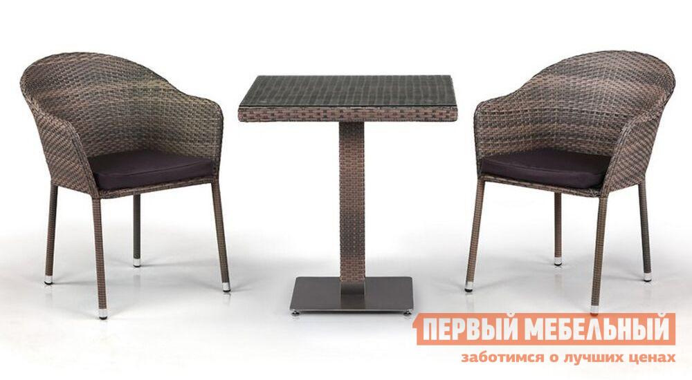 Комплект плетеной мебели из искусственного ротанга Афина-мебель T601G/Y375G-W1289 2Pcs комплект плетеной мебели из искусственного ротанга афина мебель t601g y375g w1289 2pcs
