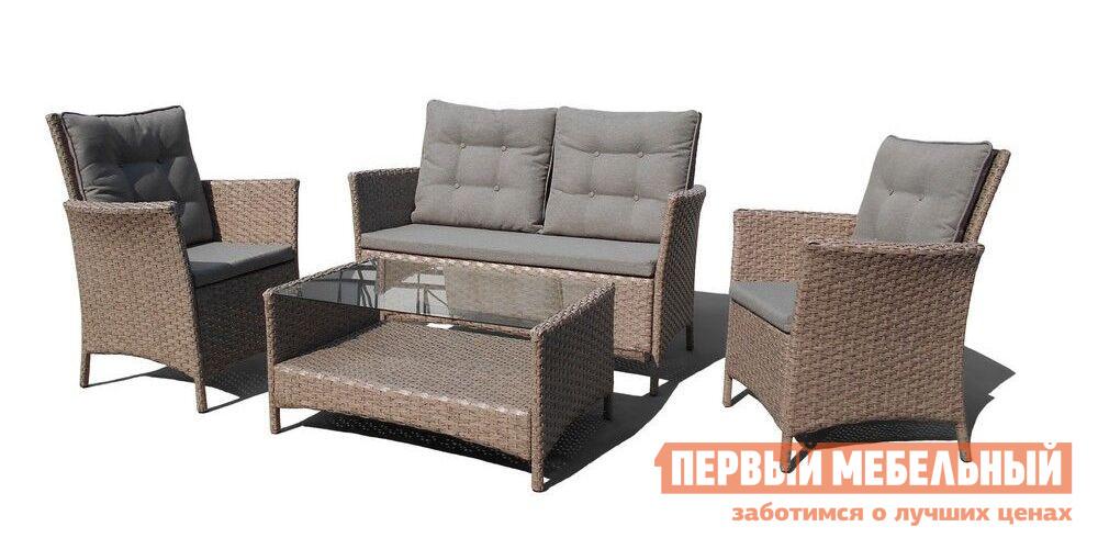 Комплект плетеной мебели из искусственного ротанга Афина-мебель AFM-804